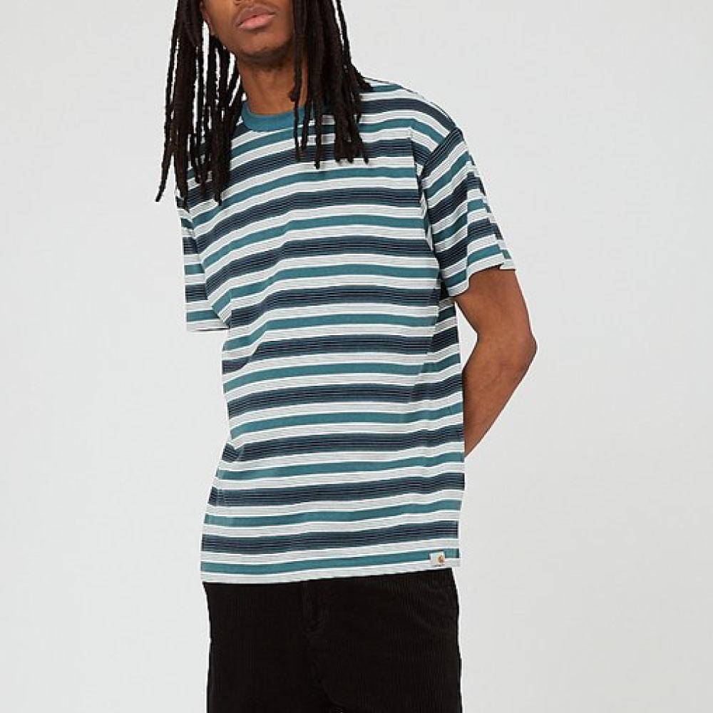 画像1: Otis S/S Stripe Tee ボーダー 半袖 Tシャツ Border T-Shirt Wax Kingston Green (1)
