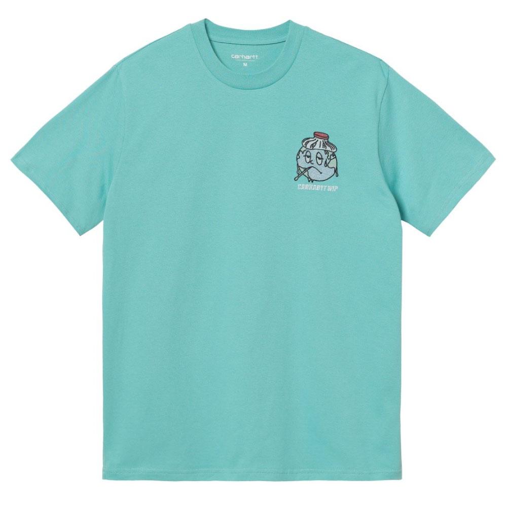 画像1: ILL World embroidery S/S Tee 刺繍 ワンポイント ロゴ 半袖 Tシャツ Bondi Mint Green ミント グリーン (1)
