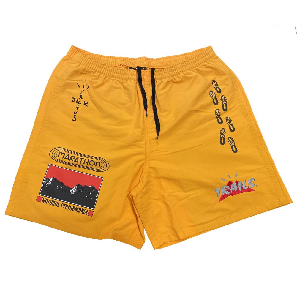 画像1: Travis Scott Trails Path Nylon Shorts トレイル ナイロン ショーツ トラヴィス スコット Yellow Gold イエロー ゴールド (1)
