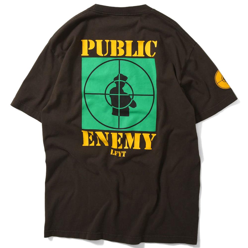 画像1: X Public Enemy Target S/S Tee パブリック エネミー 半袖 Tシャツ Brown ブラウン (1)