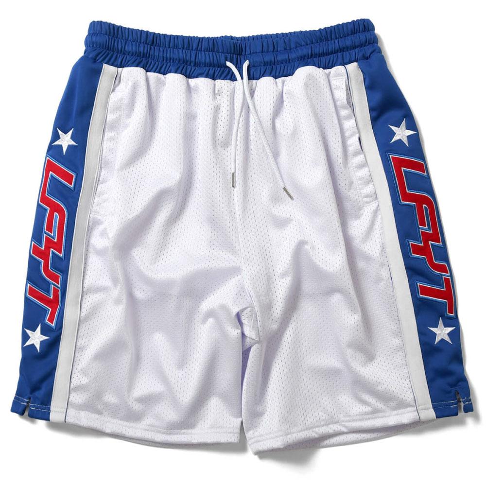 画像1: Sports Logo Basketball Shorts オーバーサイズ バスケット ボール ショーツ  (1)