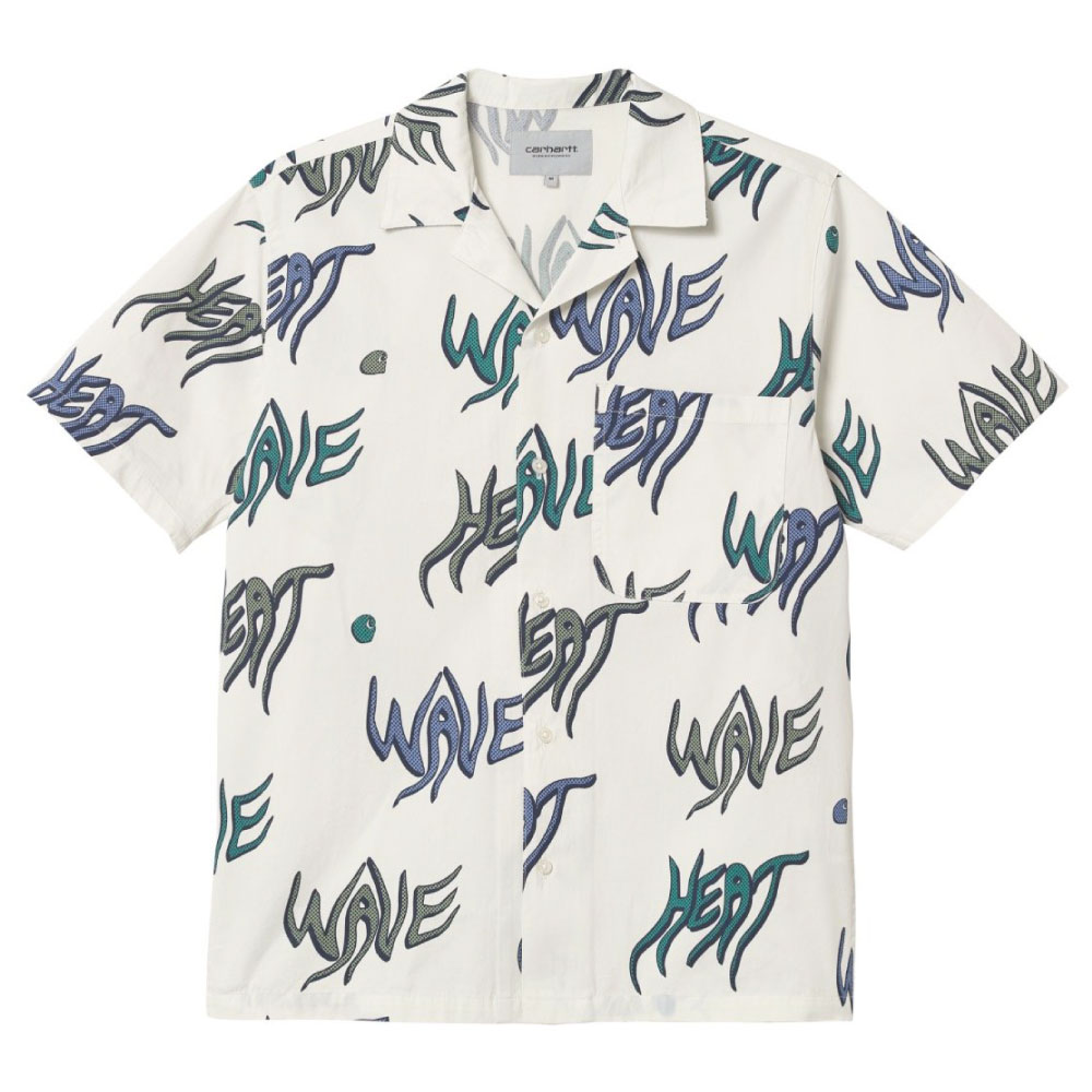 画像1: Heat Wave S/S Allover Open Colour Shirt オープンカラー ルーズフィット 半袖 柄 シャツ (1)
