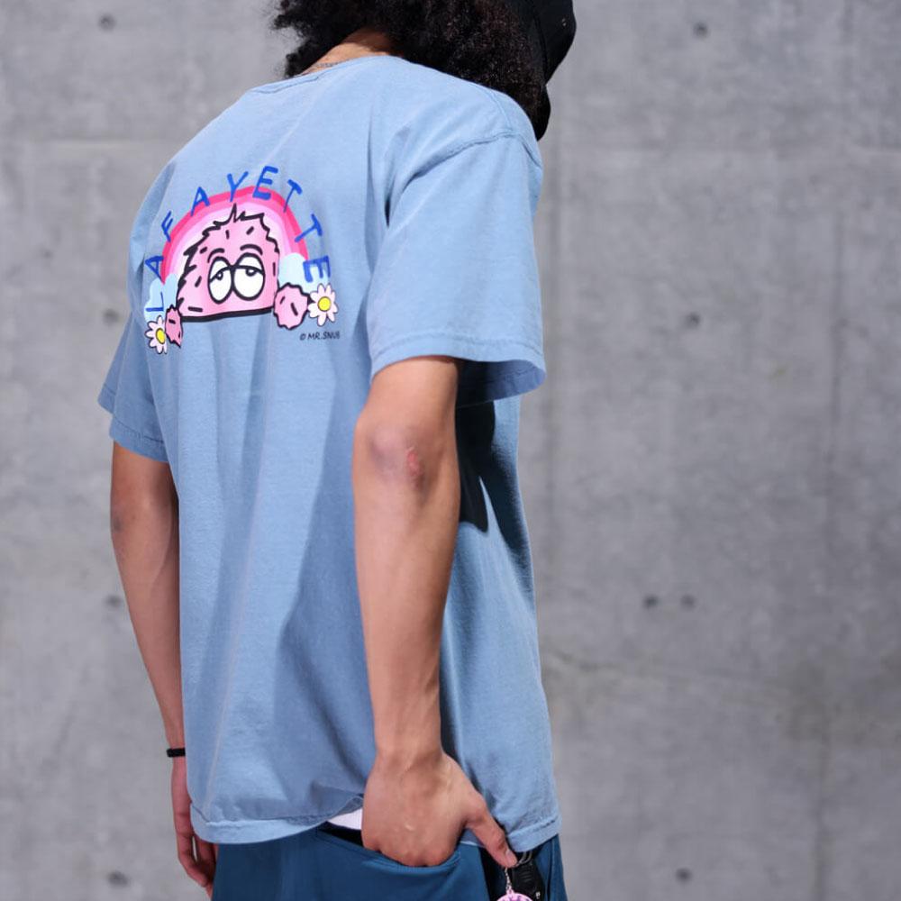 画像1: × Rabuns Day Dreaming Mr.Snub ラブン 半袖 Tシャツ (1)