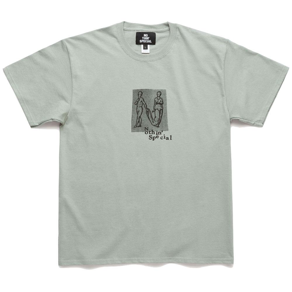画像1: Human Letter S/S Tee 半袖 Tシャツ Stonewashed Green (1)