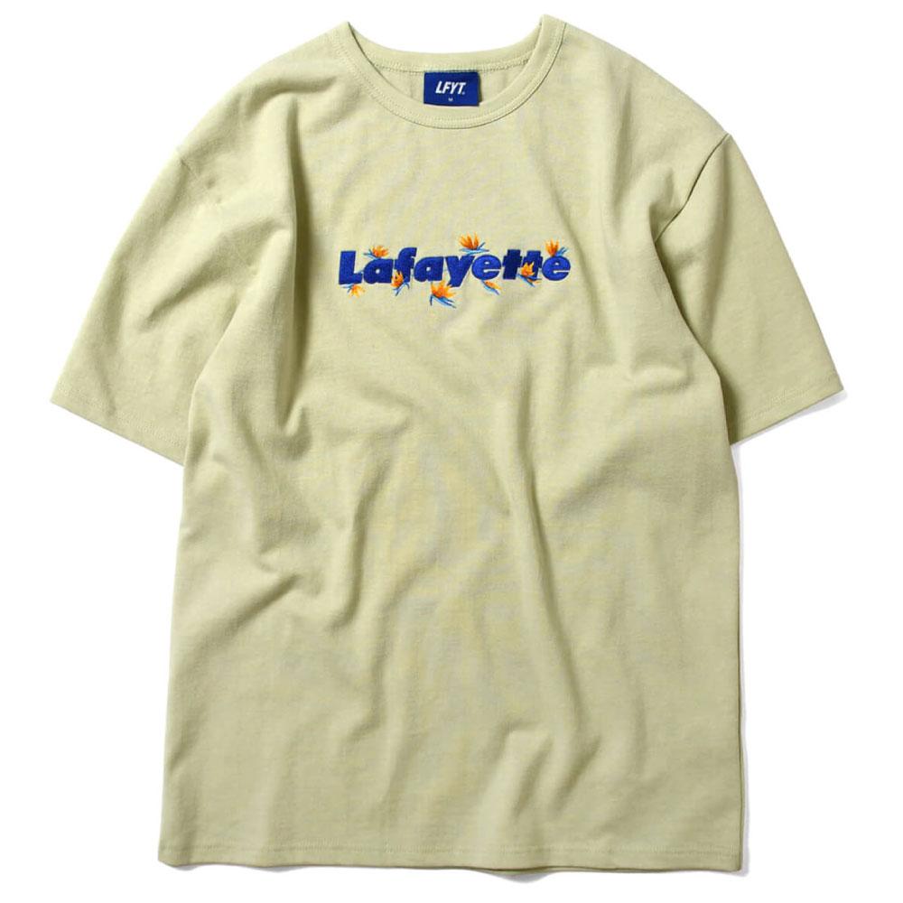 画像1: Bird Of Paradise Logo S/S Tee 半袖 Tシャツ 極楽鳥花 ストレリチア ロゴ Green by Lafayette ラファイエット  (1)