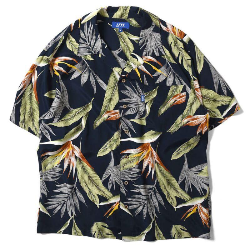 画像1: Bird Of Paradise S/S Aloha Shirt アロハ シャツ Black (1)