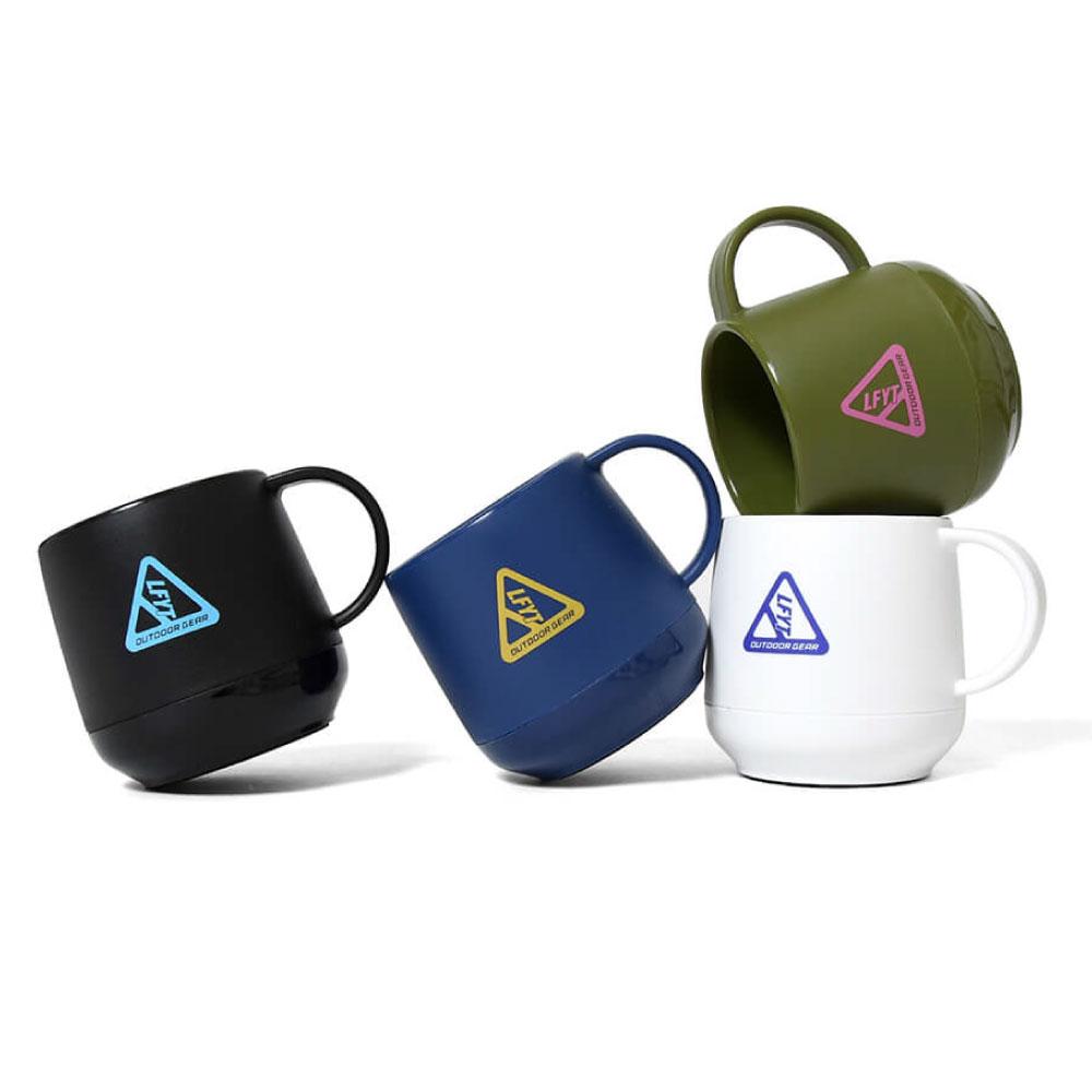 画像1: Outdoor Logo Pla Thermo Mug アウトドア ロゴ 二層構造 マグカップ Black Navy Olive (1)