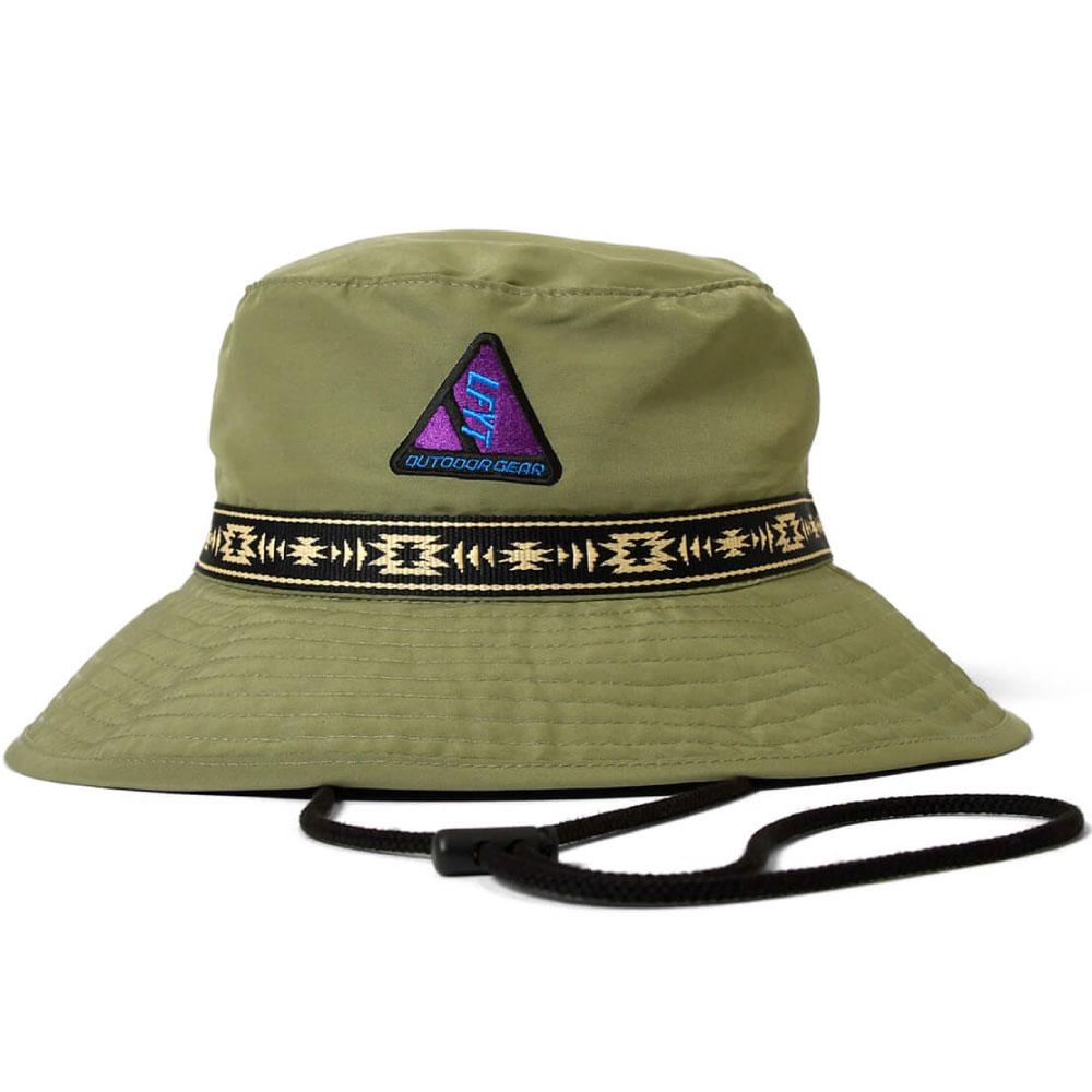画像1: Outdoor Logo Boonie Hat アウトドア ロゴ ブーニー ハット バケット 帽子 Olive Green (1)