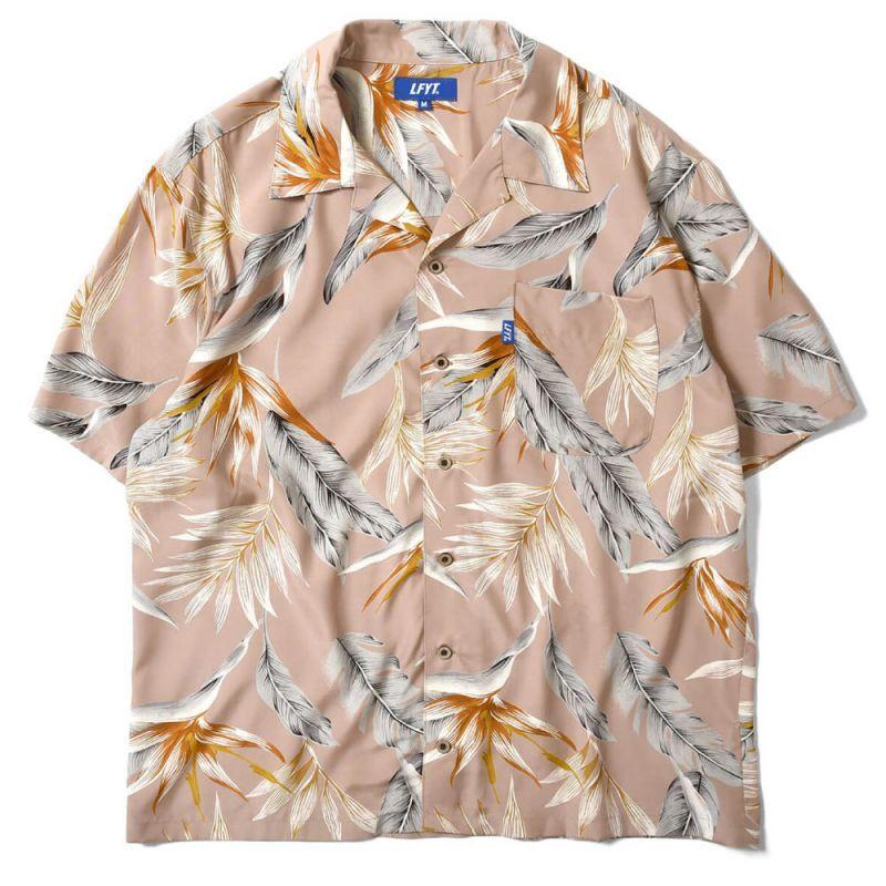 画像1: Bird Of Paradise S/S Aloha Shirt アロハ シャツ Beige (1)