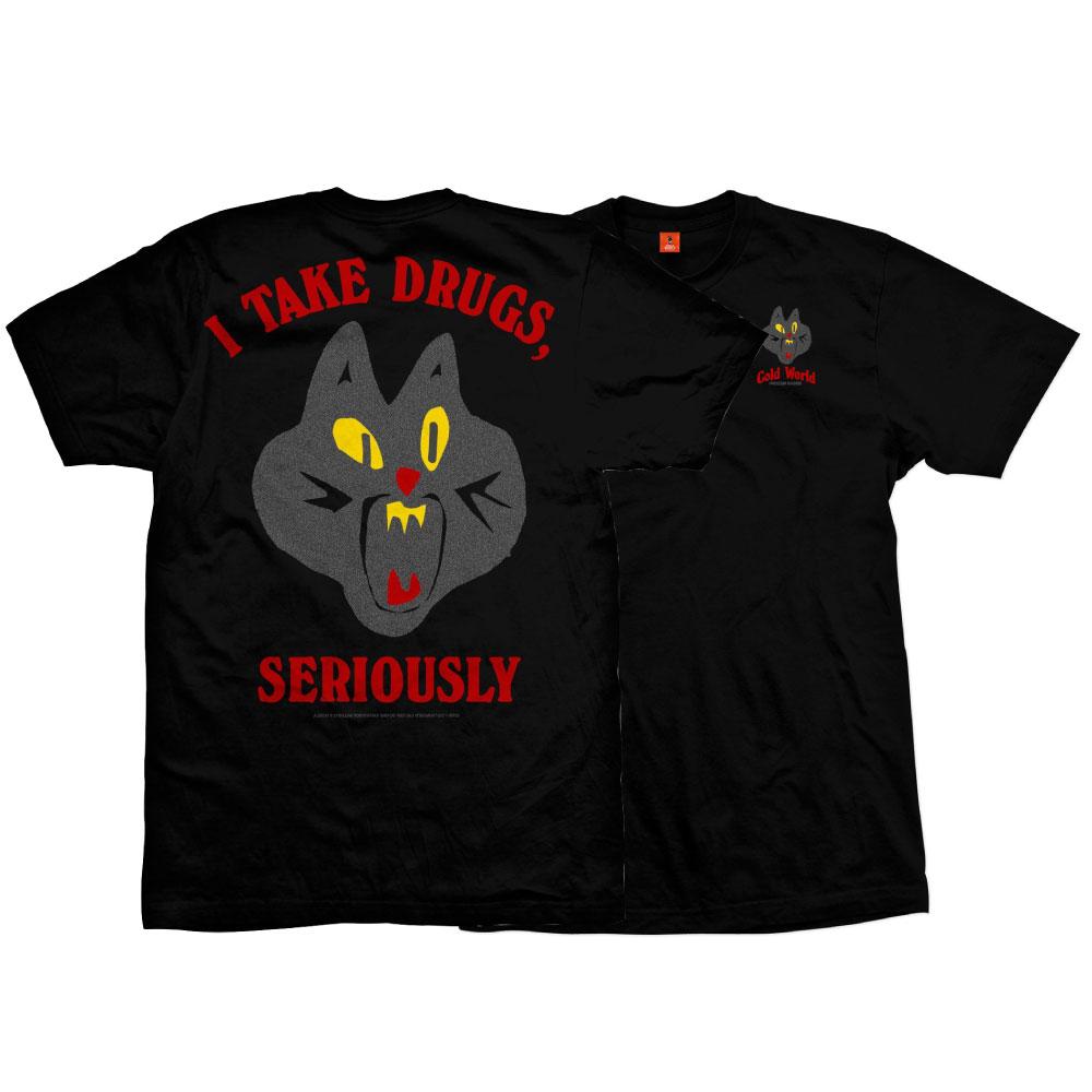画像1: Frozen Goods Jazz Cat S/S Tee リフレクティヴ ジャズ キャット 半袖 Tシャツ 反射 Reflective 3m INK Black  (1)