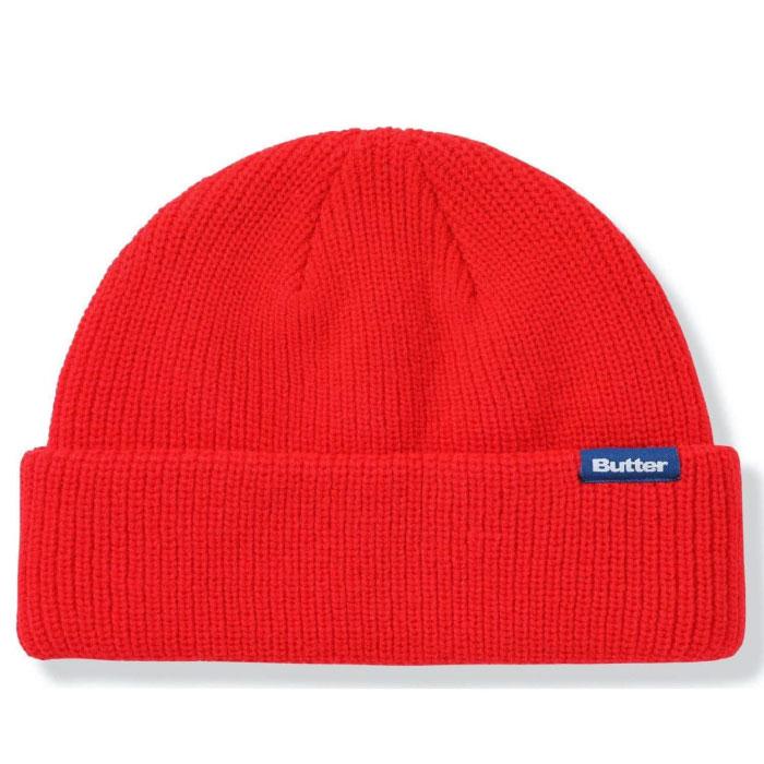 画像1: Wharfie Beanie Blue Label ショート ビーニー ニット キャップ 帽子 (1)