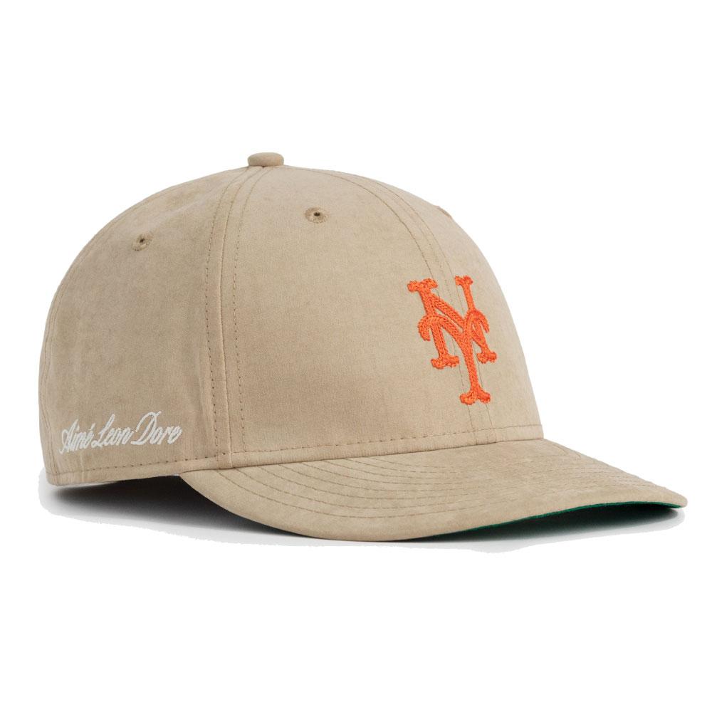 画像1: × Aime Leon dore LP 59Fifty Cap NewYork Mets Brushed Nylon Beige エメ レオン ドレ ニューヨーク メッツ キャップ 帽子 Kith ベージュ (1)