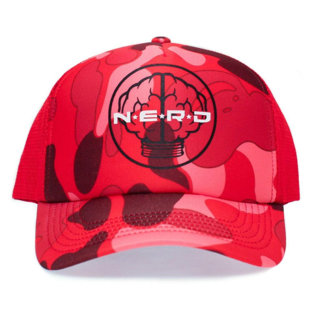 画像1: Mesh Cap Camo Red & Desert Camo メッシュ キャップ カモ 迷彩 N.E.R.D エヌイーアールディー  (1)