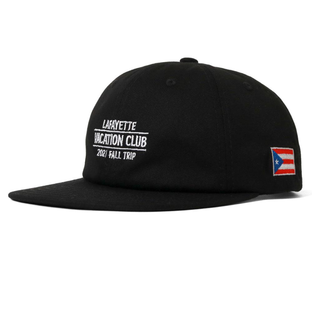 画像1: Vacation Club PRI Tour Flat Visor Cap ストラップバック キャップ 帽子 Black (1)