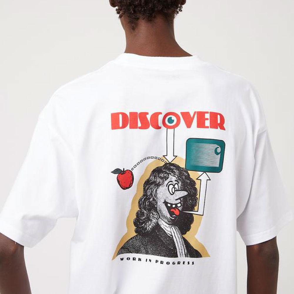 画像1: Discover S/S Tee ルーズ フィット 半袖 Tシャツ White (1)