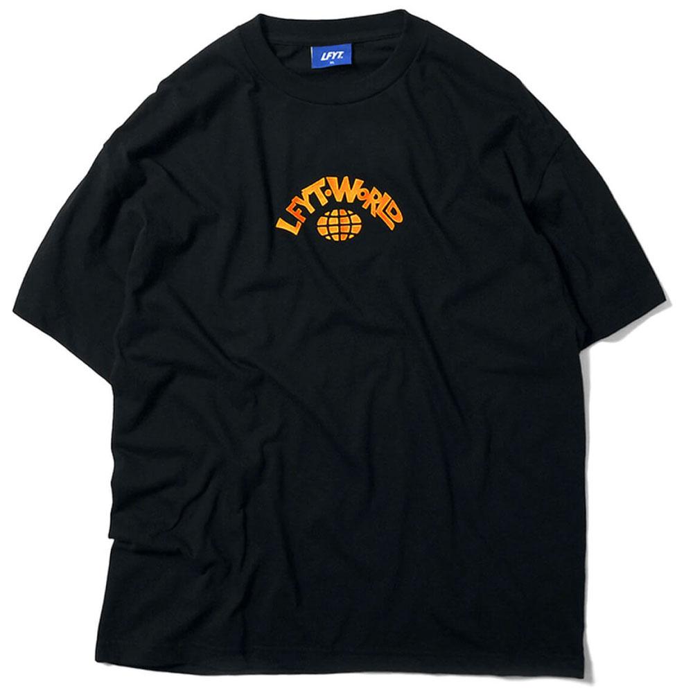 画像1: World S/S Tee ワールド 半袖 Tシャツ Black (1)