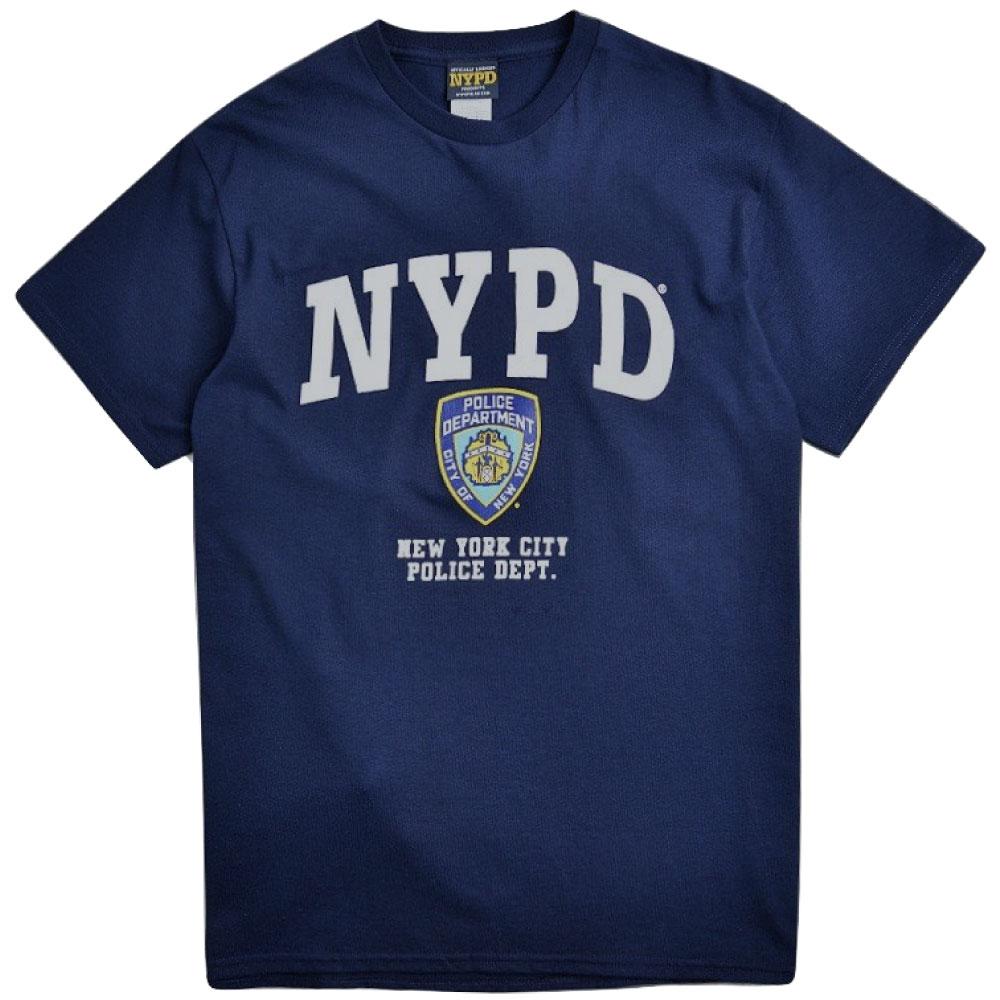 画像1: NYPD Logo S/S Official Tee オフィシャル ニューヨーク 市警察 半袖 Tシャツ Navy (1)