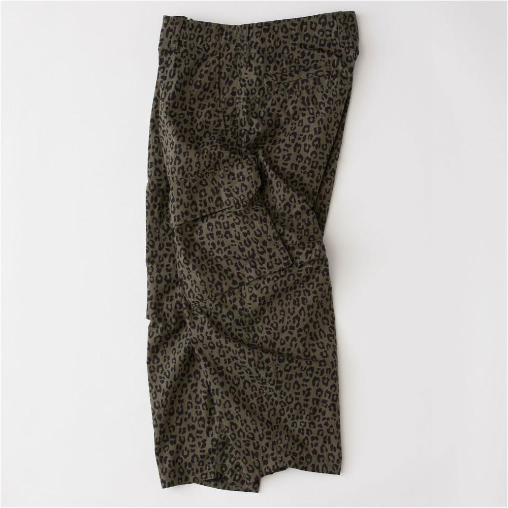 画像1: Voyager Leopard Wide Chino Pants レオパード カーゴ パンツ ワイド テーパード (1)