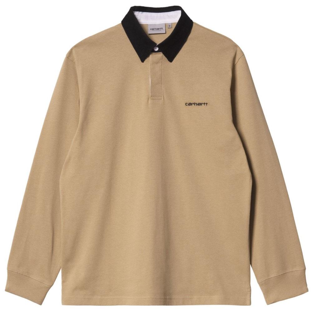 画像1: Cord Rugby L/S Polo Shirts 襟 コーデュロイ ラグビー シャツ Dusty H Brown Black (1)