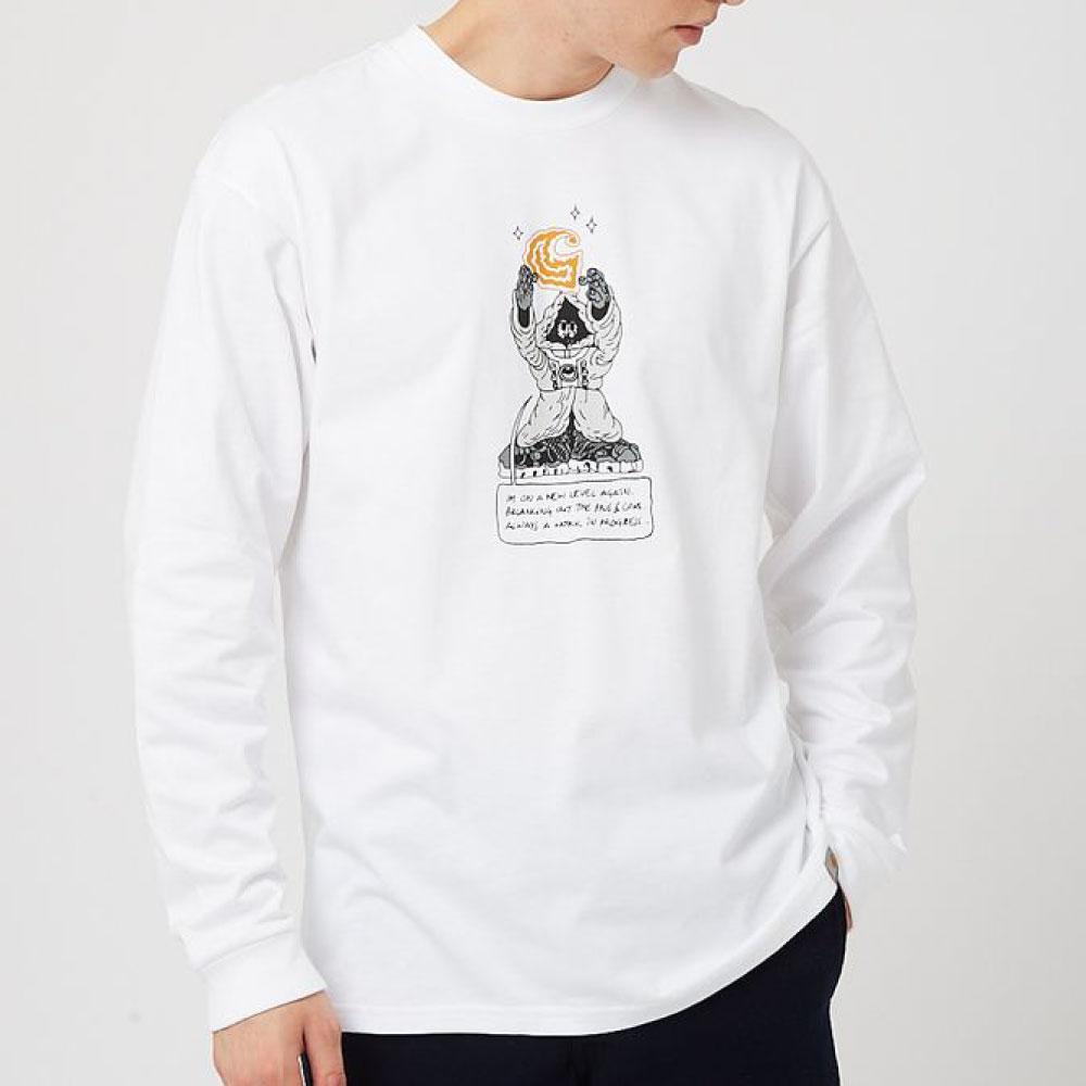 画像1: Kogankult Level L/S Tee 長袖 Kirill Kogan Tシャツ White ホワイト (1)