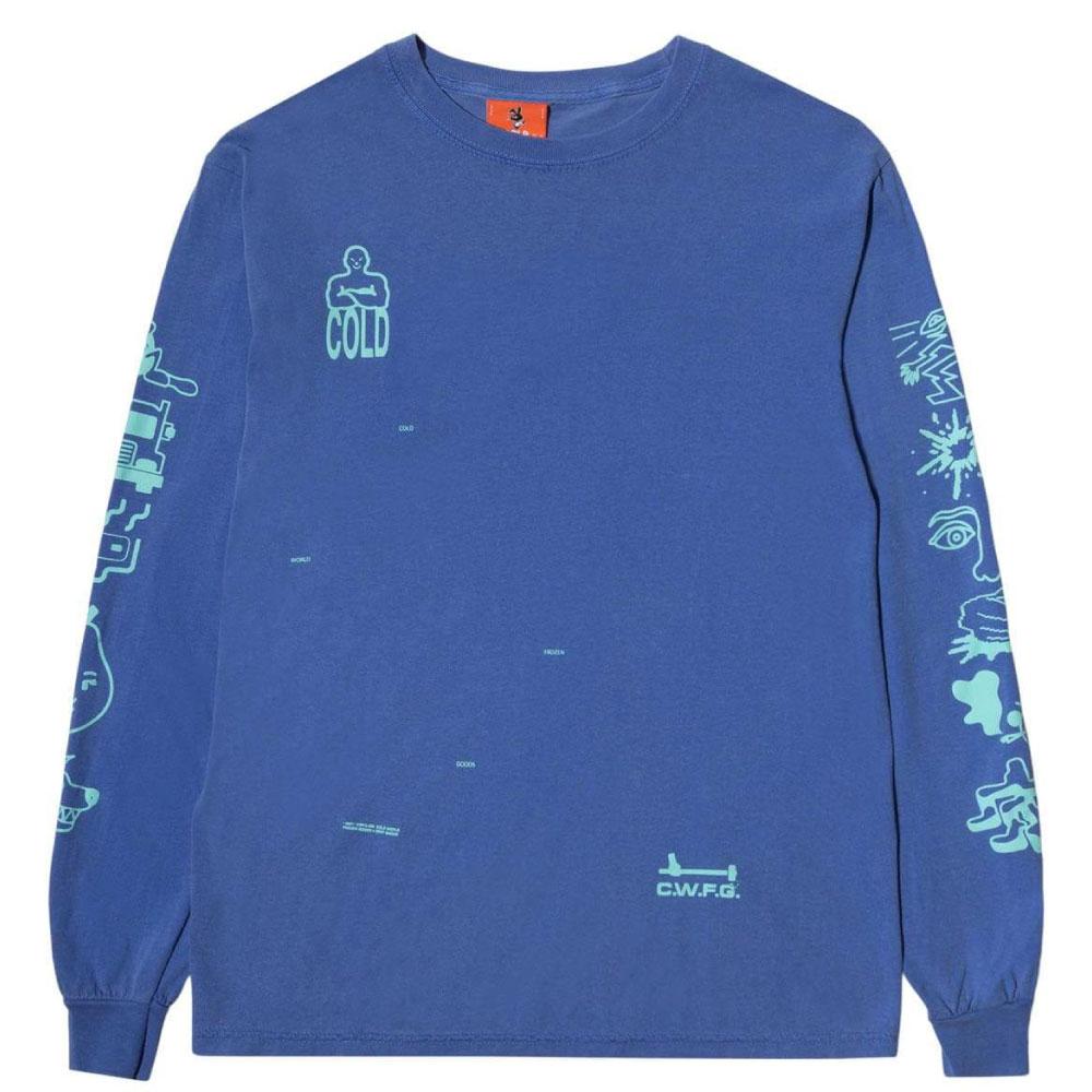 画像1: Frozen Goods Full Throttle L/S Tee 長袖 Tシャツ Blue (1)